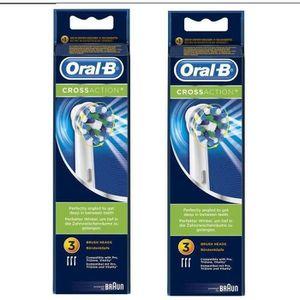 BROSSETTE PACK Oral-B Brossettes de rechange 2 x 3 CrossActi