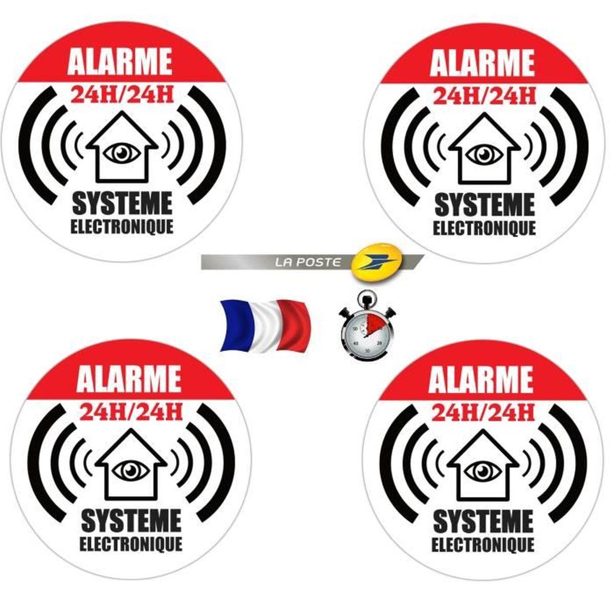 """5 Stickers dissuasif  /"""" Maison sous Surveillance Vidéo /""""  Neuf  !"""