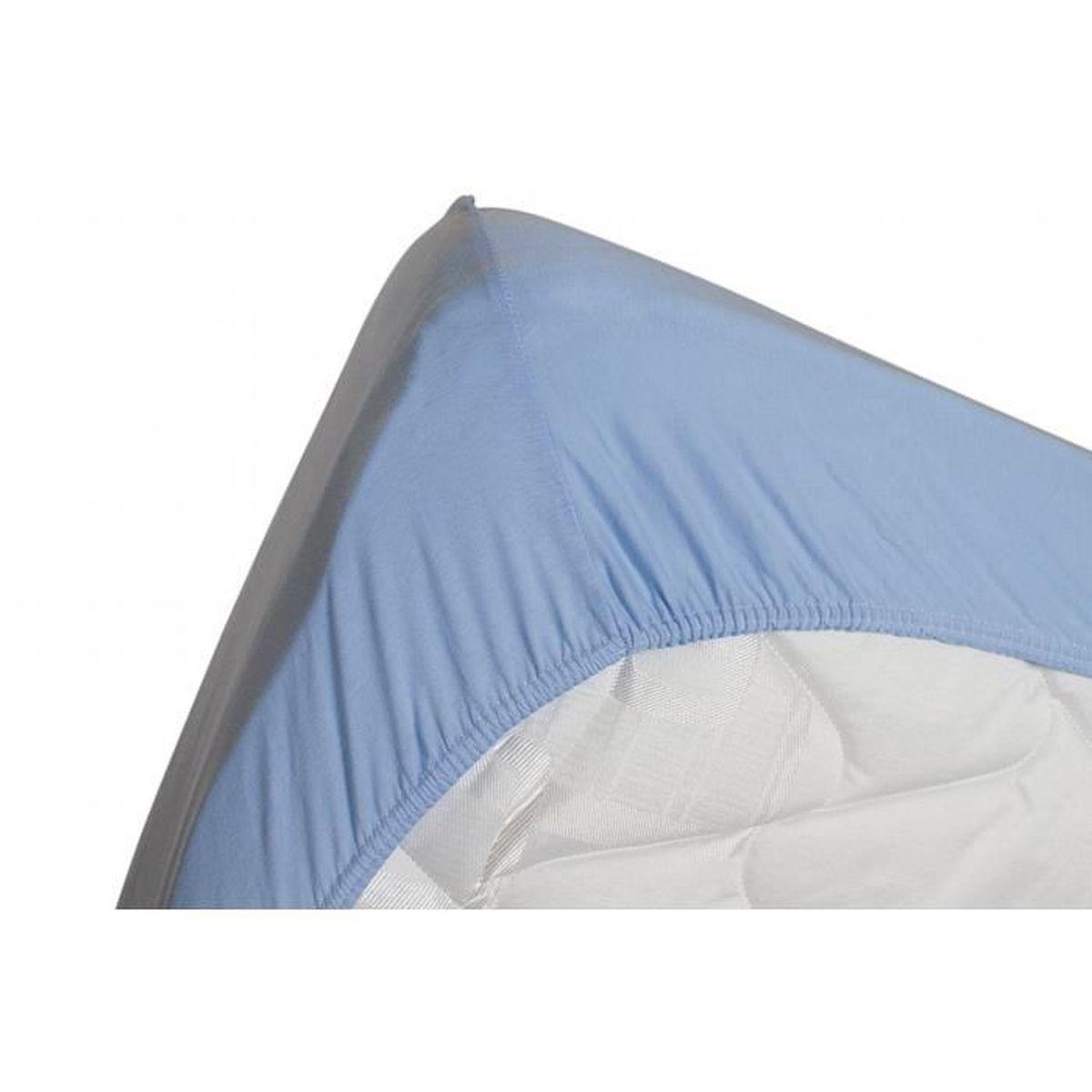 DRAP HOUSSE Drap housse jersey extensible DOUCEUR bleu lavande