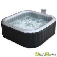 spa gonflable carr alpine 6 jacuzzi 6 personnes 185cm pompe int gr e chauffage gonfleur. Black Bedroom Furniture Sets. Home Design Ideas