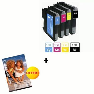 BROTHER 980 Cartouches d'encre compatibles Multipack (4) + papier photo