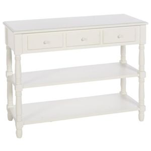 console blanche avec tiroirs achat vente console. Black Bedroom Furniture Sets. Home Design Ideas