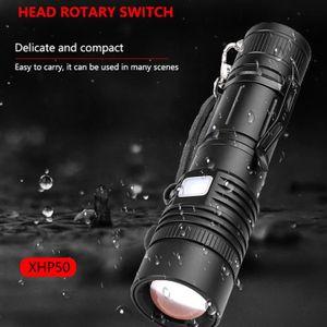 LAMPE DE POCHE Puissante lampe de poche LED XHP50 zoomables LED L