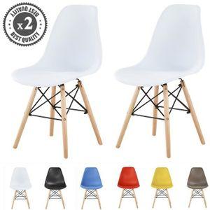 CHAISE Lot de 2 chaises au Design Moderne de Style scandi