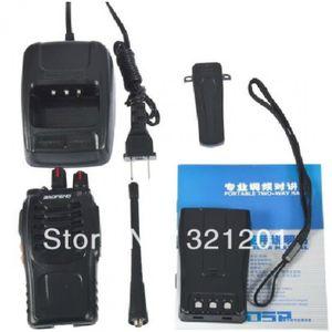 TALKIE-WALKIE   Noir Baofeng 888 S 400 - 470 Mhz Deux Talkie-Wal