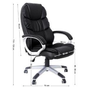 FAUTEUIL noir Chaise fauteuil de bureau Chaise pour ordinat