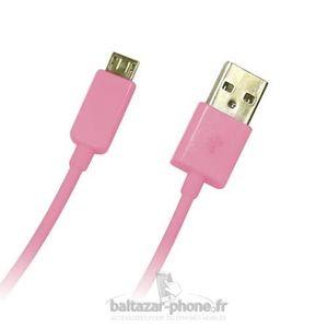 CÂBLE TÉLÉPHONE Cable rose chargeur pour HTC Desire 620