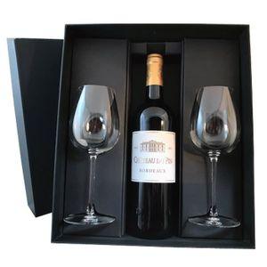 VIN ROUGE Coffret vin rouge Bordeaux château Du Pin 2015 et