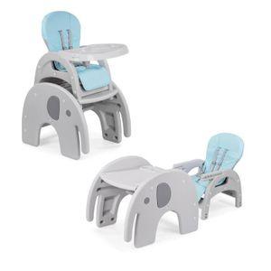 CHAISE HAUTE  Baby Vivo Chaise haute réglable pour Bébé Enfant 2