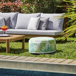CHAISE LONGUE Pouf gonflable jardin Bocarnea - Assise 53 cm - Re