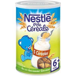 CÉRÉALES BÉBÉ [LOT DE 3] NESTLÉ P'tite Céréale 5 Céréales - 400