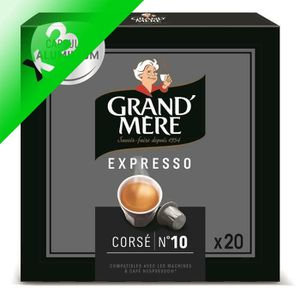 CAFÉ Lot de 3 - Café Capsules Grand Mere Expresso Corsé