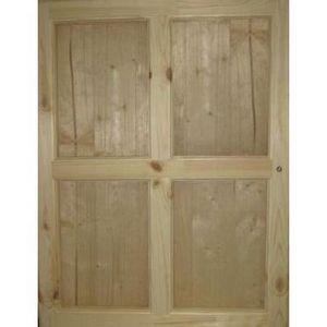 ABRI JARDIN - CHALET Volet intérieur pour abri bois de 28 mm