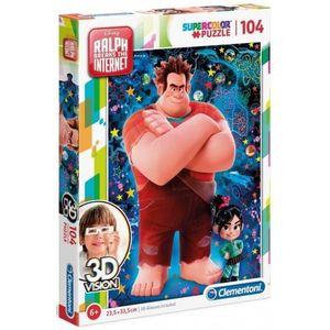 PUZZLE Clementoni puzzle 3D vision Disney Ralph 104 pièce