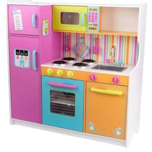 DINETTE - CUISINE KIDKRAFT - Cuisine enfant en bois Deluxe Big and B