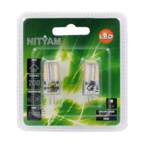 AMPOULE - LED NITYAM Pack de 2 ampoules capsules Led G4 3W équiv