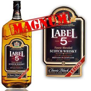 WHISKY BOURBON SCOTCH Label 5 Scotch Whisky 1,5L