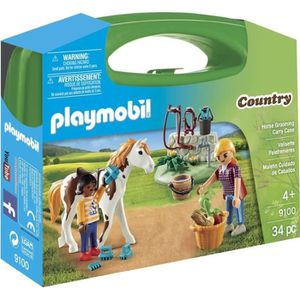 UNIVERS MINIATURE PLAYMOBIL 9100 - Country - Valisette Equitation