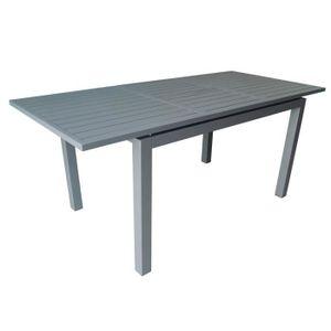 SALON DE JARDIN  Trieste Table 180 Alu Allonge Papillon - Grey