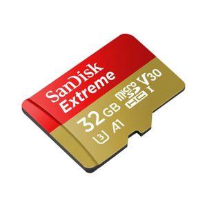 CARTE MÉMOIRE SANDISK SDSQXAF-032G-GN6AA EXTREME Cartes microSDH