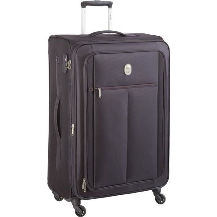 visa delsey valise trolley extensible souple 4 roues 78cm pin up5 noir noir achat vente. Black Bedroom Furniture Sets. Home Design Ideas