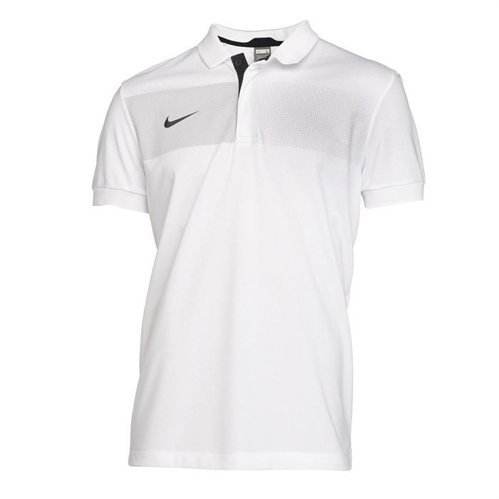 nike polo de football homme blanc gris et noir achat vente polo nike polo de football homme. Black Bedroom Furniture Sets. Home Design Ideas