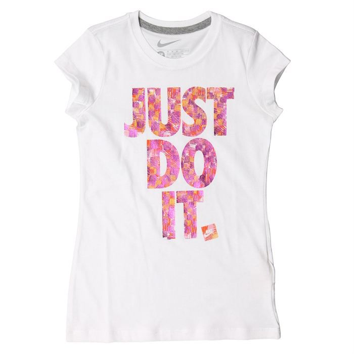 nike t shirt enfant fille achat vente t shirt nike tee shirt fille cdiscount. Black Bedroom Furniture Sets. Home Design Ideas