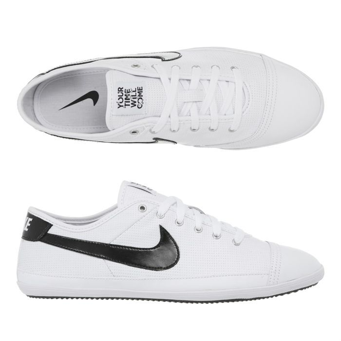 cd2151f20bf7 NIKE Baskets Flash Leather Homme Blanc et noir - Achat   Vente ...