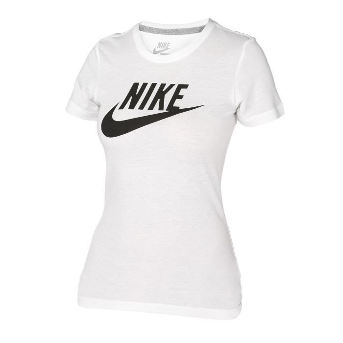 nike tee shirt femme blanc et noir achat vente t shirt cdiscount. Black Bedroom Furniture Sets. Home Design Ideas