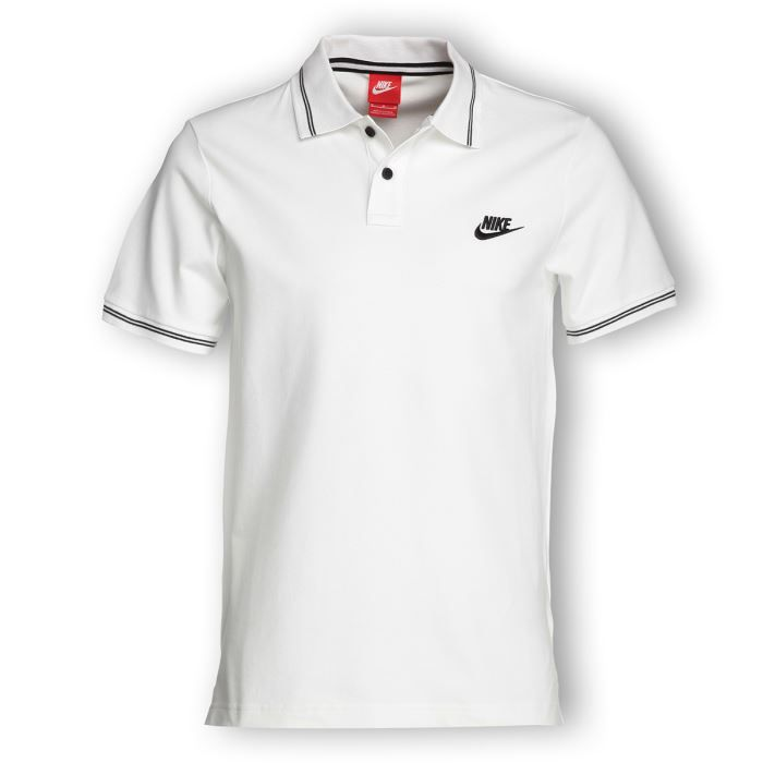 nike polo homme blanc achat vente polo cdiscount. Black Bedroom Furniture Sets. Home Design Ideas
