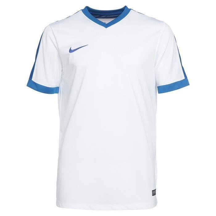 NIKE T-shirt Unisexe Striker IV - Blanc et bleu