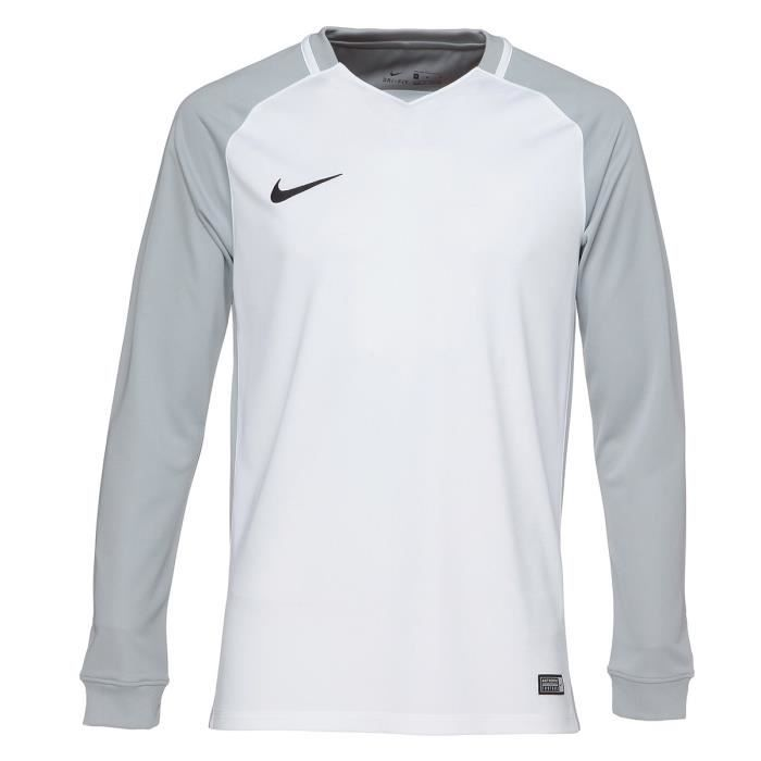NIKE Maillot Manches longues Trophy III - Homme - Blanc