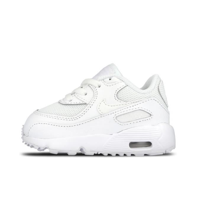 basket nike fille air max blanche