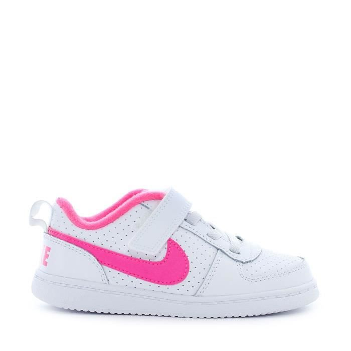 Borough Nike Low Bébé Court Et Chaussures Rose Baskets Blanc Fille qrgE1r