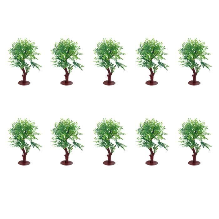 10pcs arbres modèle mini plantes miniatures durables pour table de sable VEHICULE A CONSTRUIRE - ENGIN TERRESTRE A CONSTRUIRE