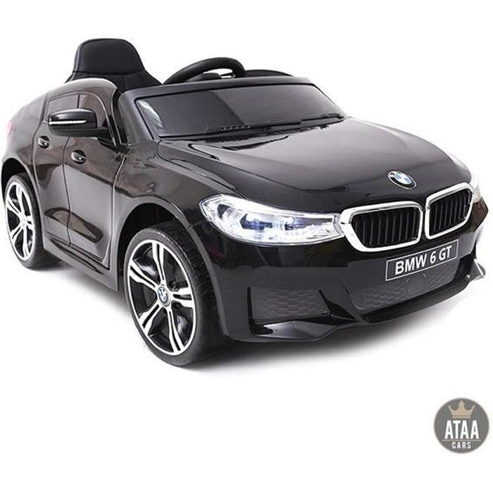BMW 6 GT Licence officielle 12v Noir - Voiture électrique pour enfant avec batterie 12v et télécommande