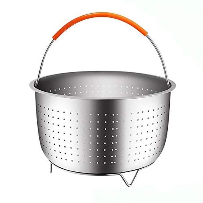 Batterie De Cuisine K6SSZ Panier à vapeur - Insert d'autocuiseur - Acier inoxydable (panier à vapeur de qualité supérieure pour 8 pi