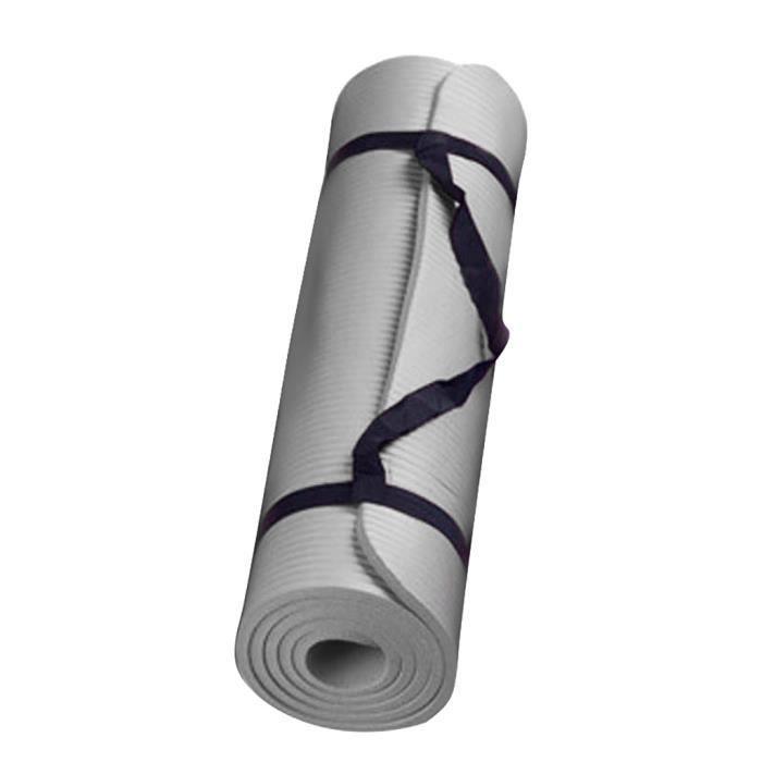 Taille: 60 x 25 x 1,5 cm / 23,6 x 9,8 x 0,6 pouces/Petit tapis de yoga durable de 15 mm d'épaisseur et tapis d'exercice antidérapant