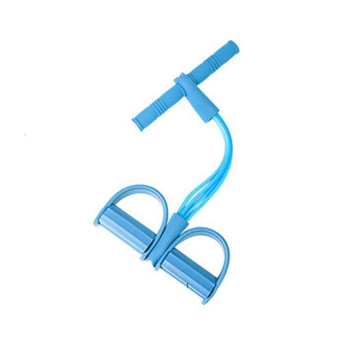 Corde de Tension Multifonctionnelle Pédale Corde Élastique Tendeur de Jambe Crunchs Abdominaux Crunchs Abdominaux - Bleu