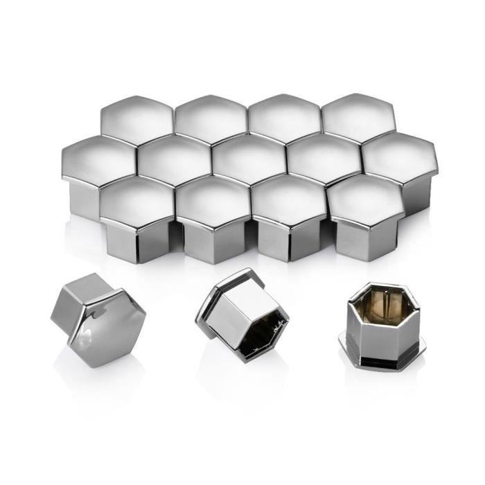 Cache-boulon pour jantes de voiture - Décoration - Bouchons à écrous - Peugeot ou Citroen - 16 pièces