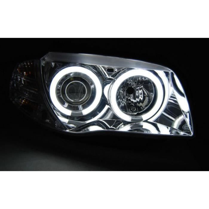 Paire feux phares BMW E81/E82/E87/E88 04-11 Angel Eyes CCFL Chrome