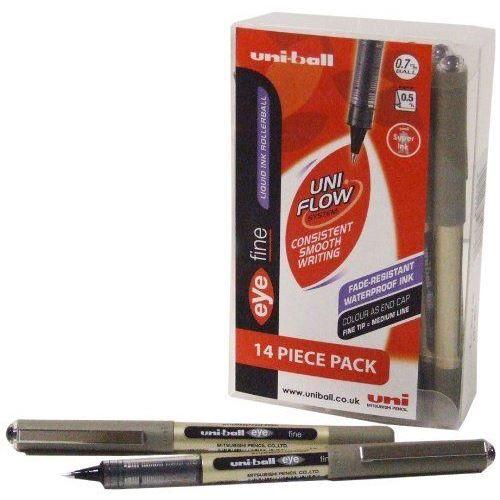 Uni-Ball Eye Fine UB157 Stylo roller Noir Lot d…