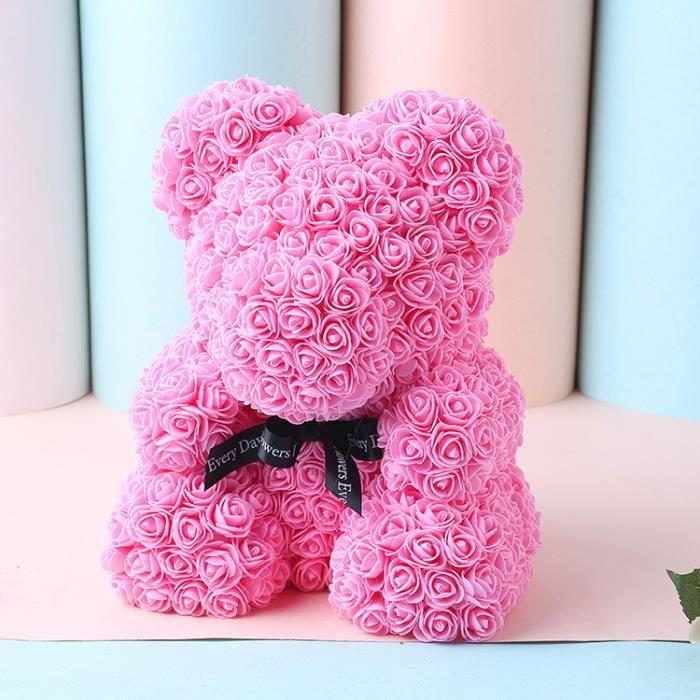 PE Rose Flower Saint Valentin Ours Des Rose pour Cadeau d'anniversaire, Cadeau de la Saint-Valentin, Décoration de Mariage, etc.