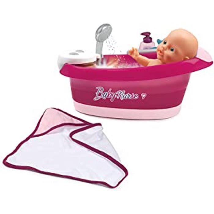 Baby Nurse - Baignoire Balnéo - Pour Poupons Et Poupées - Jets D'Eau Et Bulles - Lumières Led - 220362