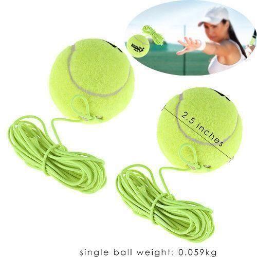 2 Balles de Tennis Crochet avec la corde pour adulte enfant d'exercice entraînement Chien Chiot Jeu Leçon Outil à Lancer et