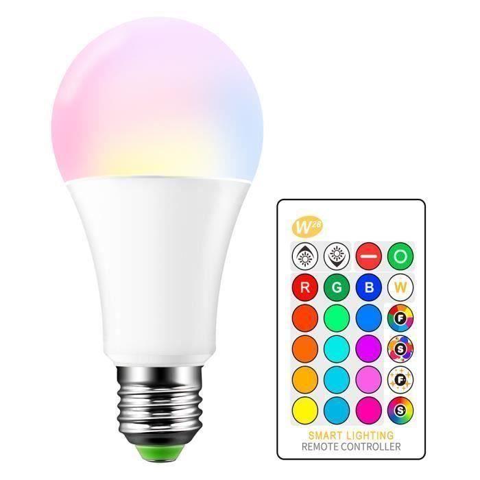 15W Ampoule LED RGBW E27 Lampe d'éclairage d'ambiance LED Lumières décoratives de barre de mode de fente de Flash Strobe KTV