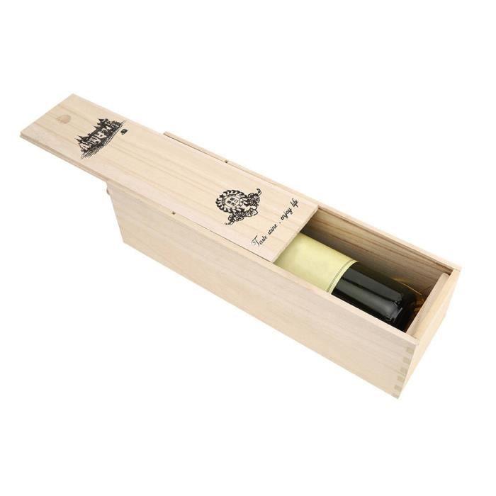 EBTOOLS caisse de vin rouge Boîte de bouteille de vin rouge rétro Portable conteneur de stockage en bois délicat décoration de