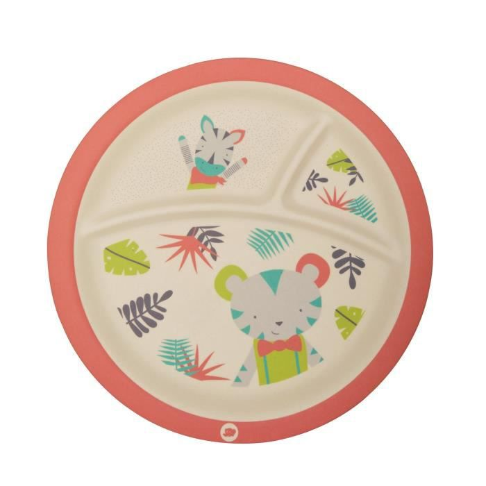 BEBE CONFORT Assiette en Bambou avec compartiments - Jungle Vibes