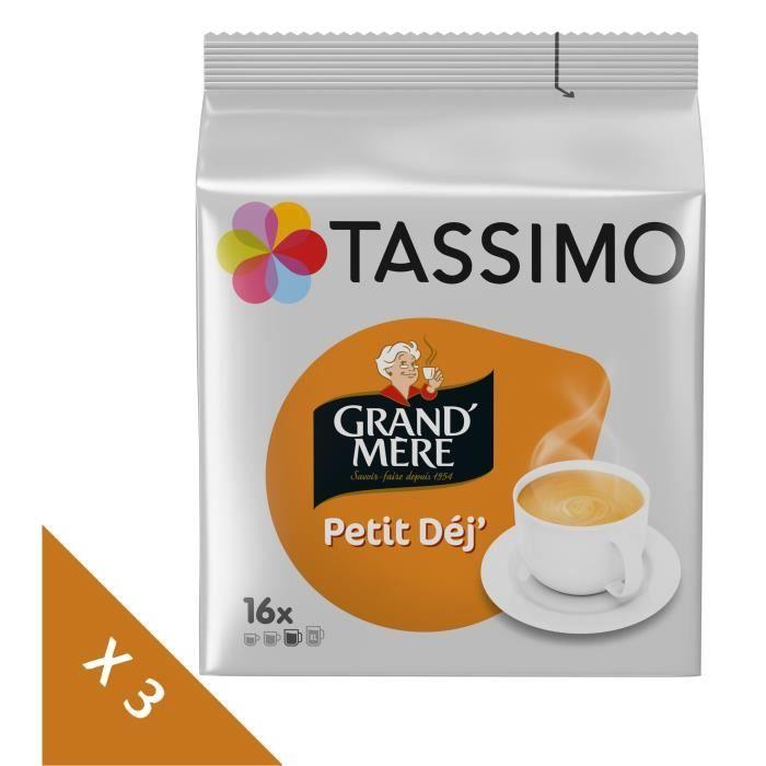 Lot de 3 - Tassimo Grand mère Petit Dej Café en dosettes x16 - 133 g