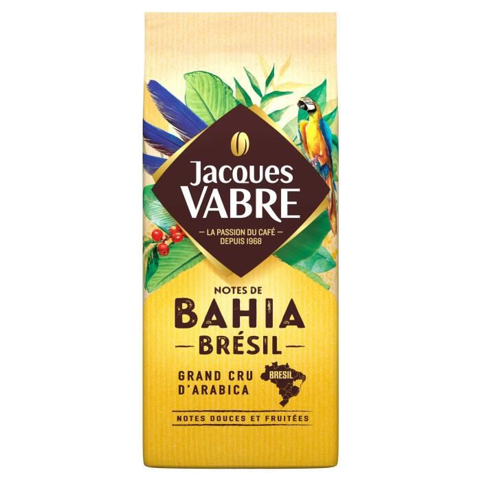 Lot de 3 - Jacques Vabre Bahia Pures Origines Café moulu - 250 g